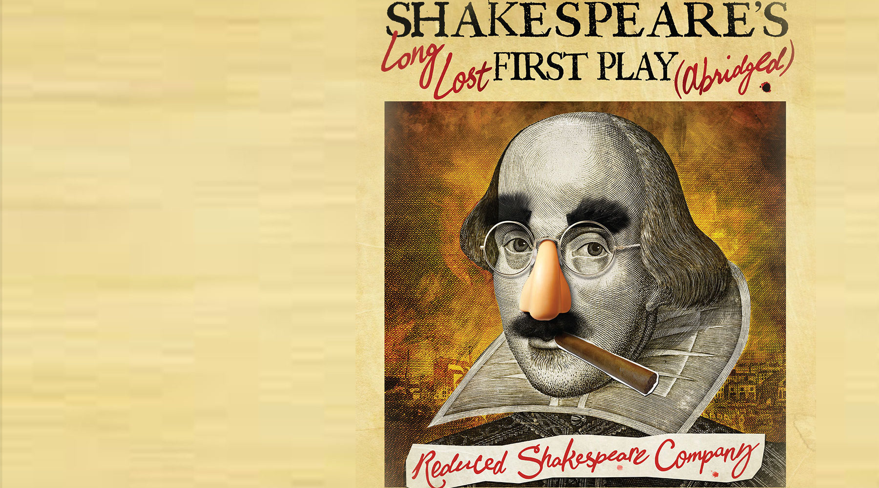 William Shakespeare's Long Lost First Play Banner